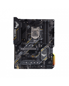 ASUS TUF GAMING B460-PLUS, Intel B460 (LGA 1200) ATX gaming motherboard with dual M.2, 8 power stages, HDMI, DisplayPort, SATA 6Gbps, USB 3.2 Gen 1 port, and Aura Sync RGB Lighting