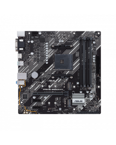 ASUS PRIME B550M-K, AMD B550 (Ryzen AM4) micro ATX motherboard with dual M.2, PCIe 4.0, 1 Gb Ethernet, HDMI/D-Sub/DVI, SATA 6 Gbps, USB 3.2 Gen 2 Type-A
